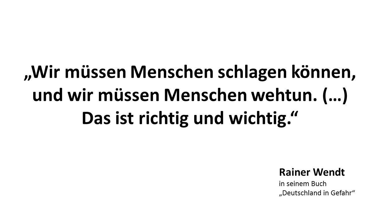 Zitat Rainer Wendt