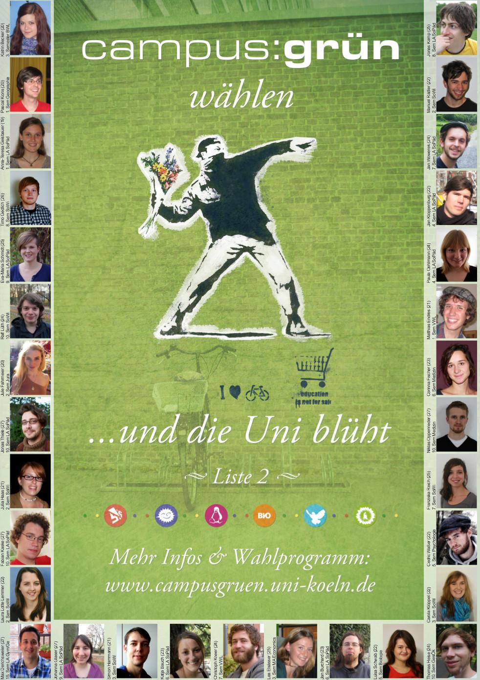 Wahlplakat für StuPa-Wahl im WiSe 2011/12
