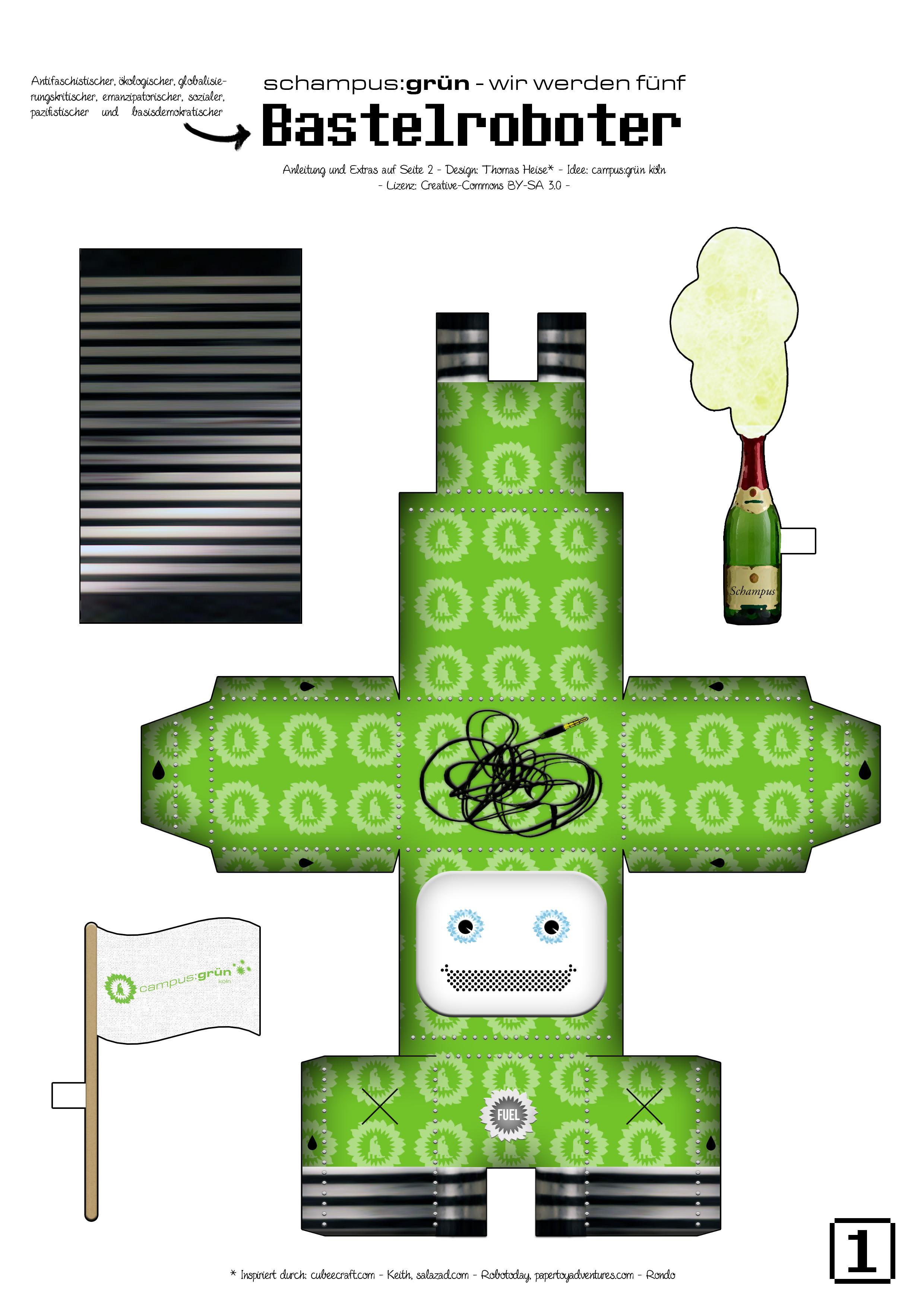 schampus gr n wir werden f nf und ihr k nnt mitfeiern und basteln campus gr n. Black Bedroom Furniture Sets. Home Design Ideas